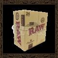 Caixa papel p/cigarro Raw Connoisseur c/24 cadernos de 33 folhas + 35 piteiras