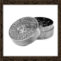 Grinder Metal Bulldog Silver 2 partes