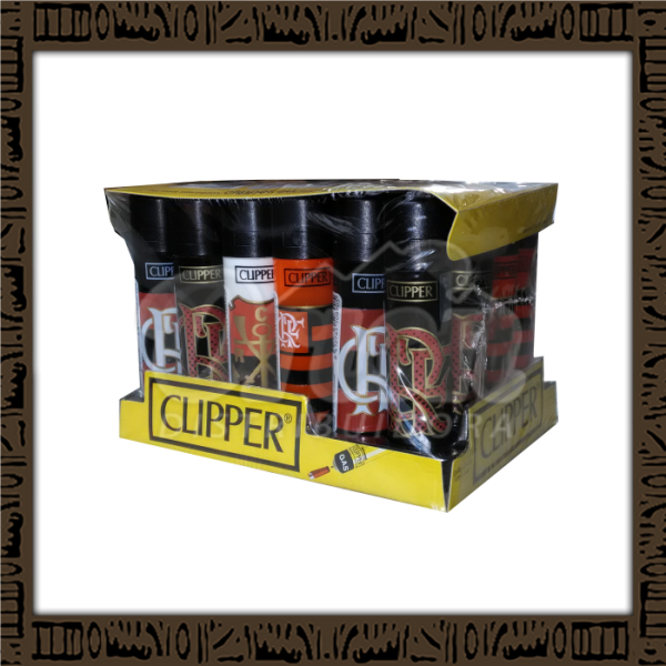Caixa isqueiro Clipper CP11R Large Flamengo c/ 24 unidades