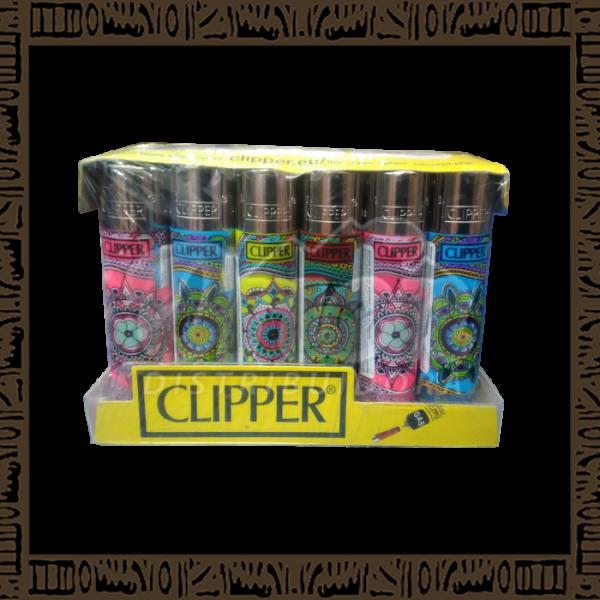 Caixa isqueiro Clipper CP11R Large Coleção Mandala c/ 24 unidades