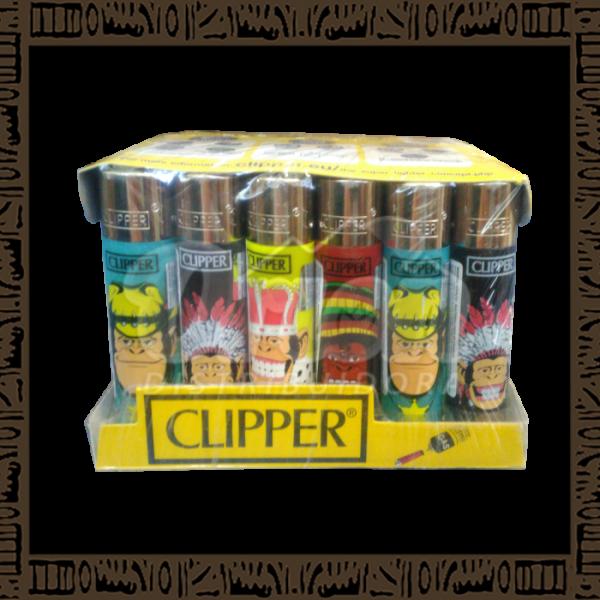 Caixa isqueiro Clipper CP11R Large Coleção Monkeys c/ 24 unidades