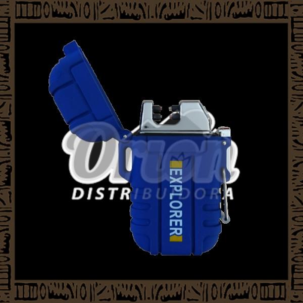 Isqueiro USB Plasma Azul - Recarregável