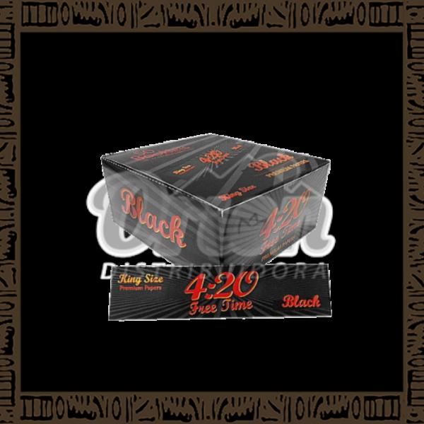 Caixa papel p/cigarro 4:20 Black King Size c/50 unidades