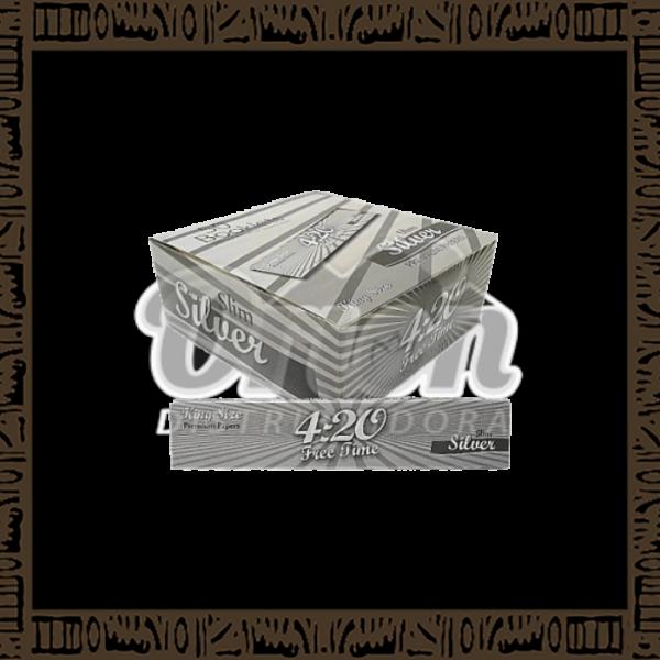 Caixa papel p/cigarro 4:20 Silver King Size c/50 unidades