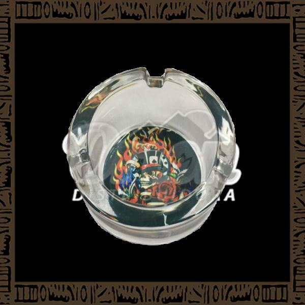 Cinzeiro de vidro estampado - DK3055M