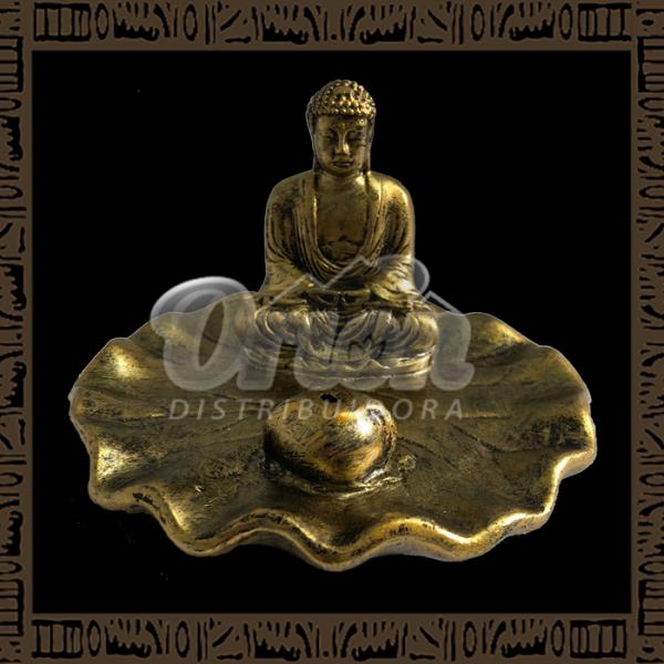 Porta-Incenso Resina Buda YRES-E07 - Prata ou Bronze