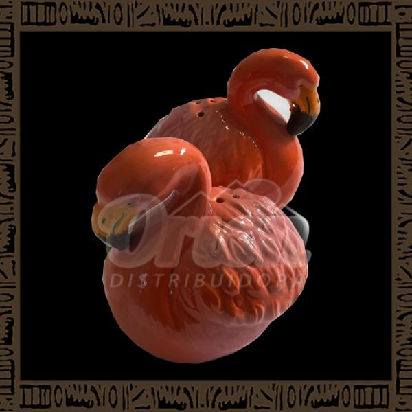 Kit Enfeite de Porcelana 2 Flamingos YFMG-04