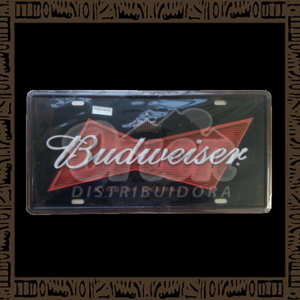 Quadro Decorativo de Parede 15x30 - Placa 012 Budweiser - MXF17045