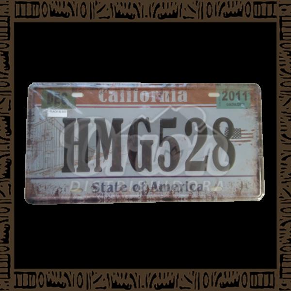 Quadro Decorativo de Parede 15x30 - Placa 023 Dec California - MXF17049