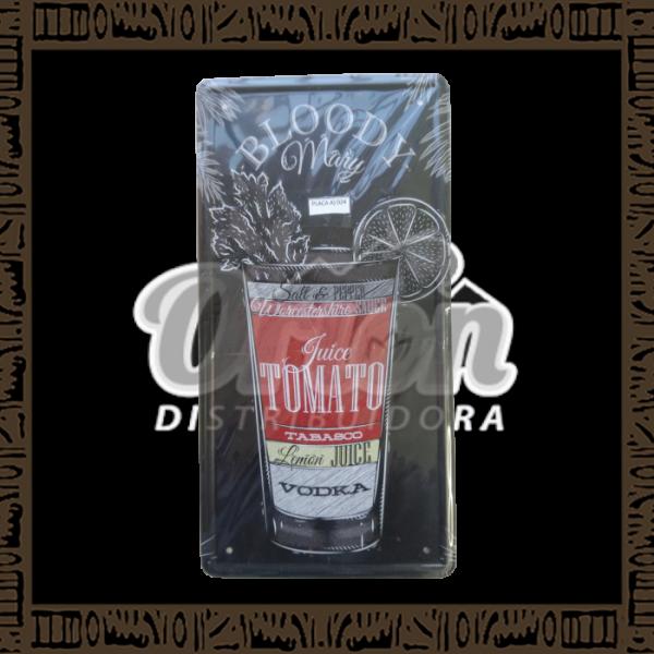 Quadro Decorativo de Parede 15x30 - Placa 024 Bloody Mary - MXF16319