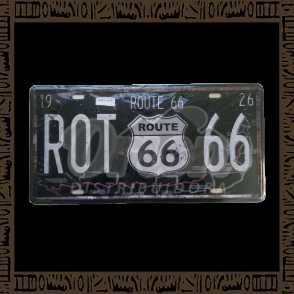 Quadro Decorativo de Parede 15x30 - Placa 027 Rot 66 - MXF17047