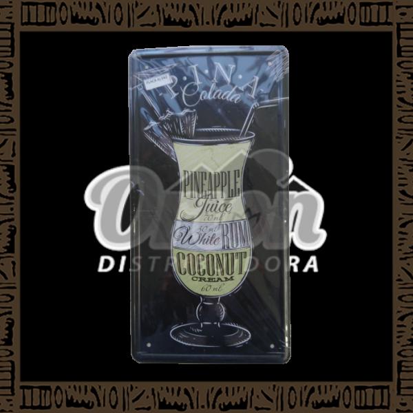 Quadro Decorativo de Parede 15x30 - Placa 042 Pina Colada - MXF16319