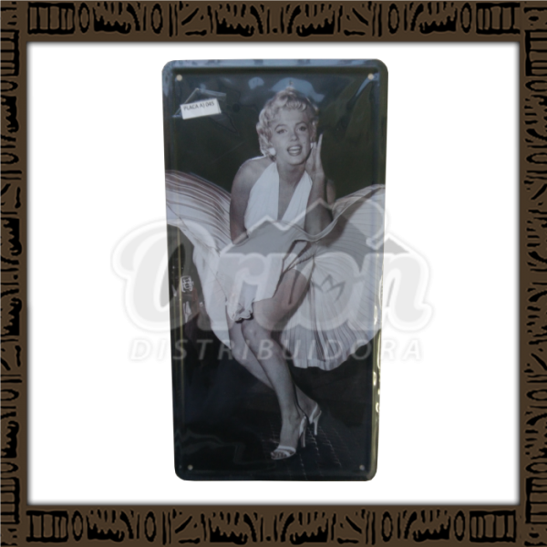Quadro Decorativo de Parede 15x30 - Placa 045 Marilyn Vestido - MXF17052