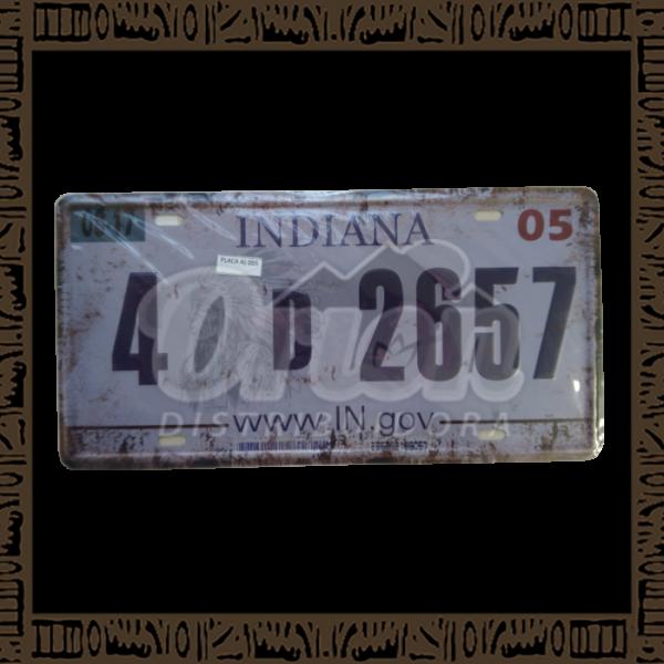 Quadro Decorativo de Parede 15x30 - Placa 055 Indiana - MXF17051