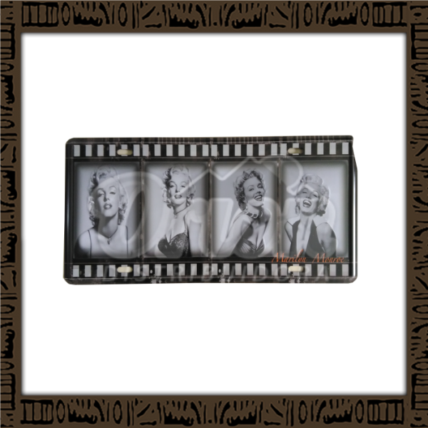 Quadro Decorativo de Parede 15x30 - Placa 071 Marilyn Monroe Movie - MXF17052
