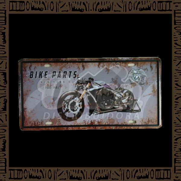 Quadro Decorativo de Parede 15x30 - Placa 072 Bike Parts - MXF16320
