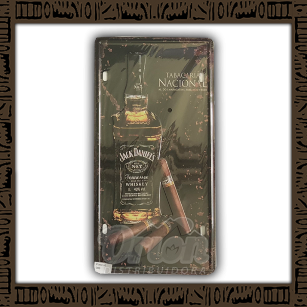 Quadro Decorativo de Parede 15x30 - Placa 086 Jack Daniels Tabacaria Nacional - TPLC-97