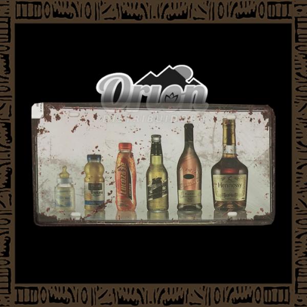 Quadro Decorativo de Parede 15x30 - Placa 088 Evolução dos Drinks - TPLC-97