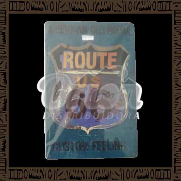 Quadro Decorativo de Parede 20x30 - Placa 001 American Old Route - MXF17025