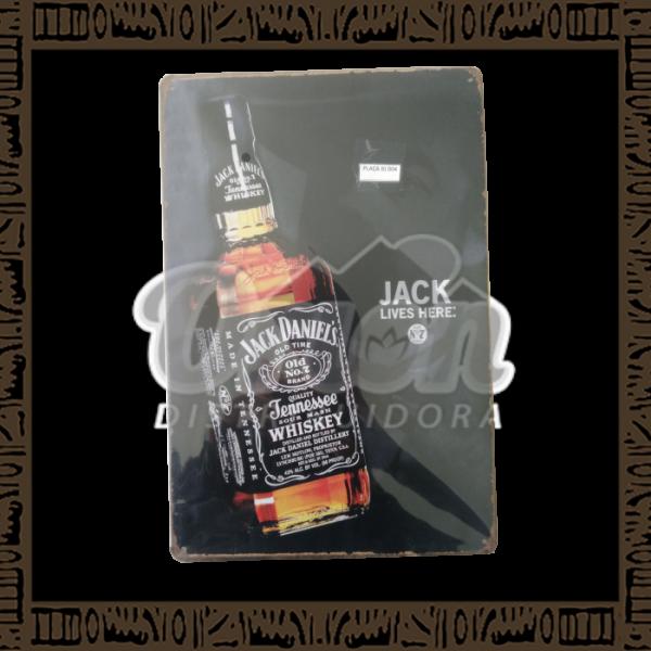 Quadro Decorativo de Parede 20x30 - Placa 004 Jack lives here - MXF17009
