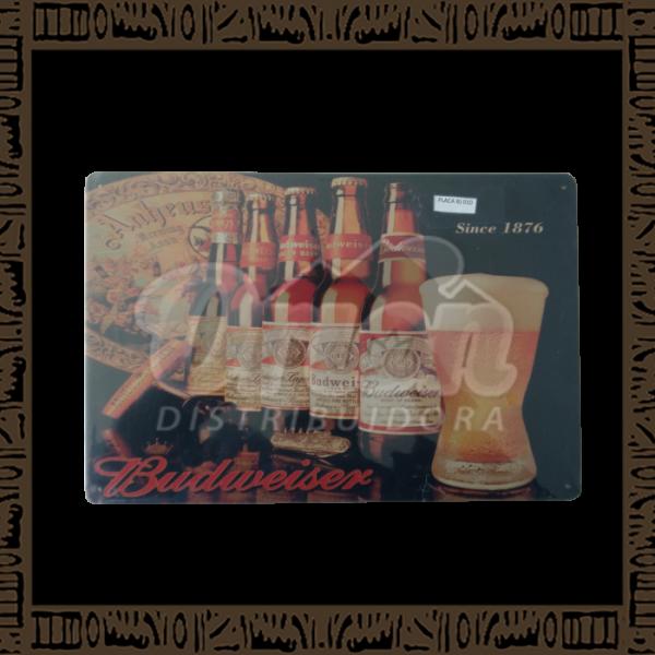 Quadro Decorativo de Parede 20x30 - Placa 010 Budweiser - MXF17012