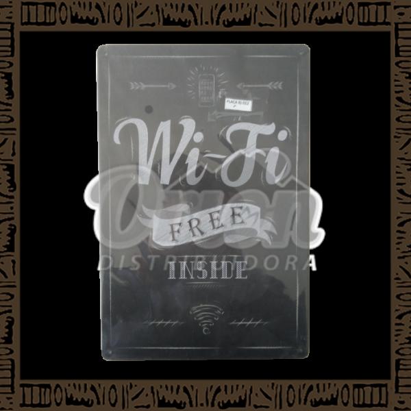 Quadro Decorativo de Parede 20x30 - Placa 012 Wifi - MXF17035