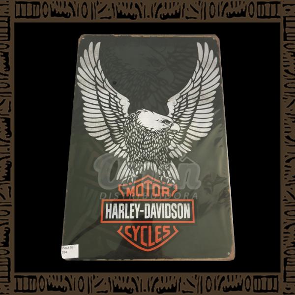 Quadro Decorativo de Parede 20x30 - Placa 034 Harley Davidson Águia - TPLC-38