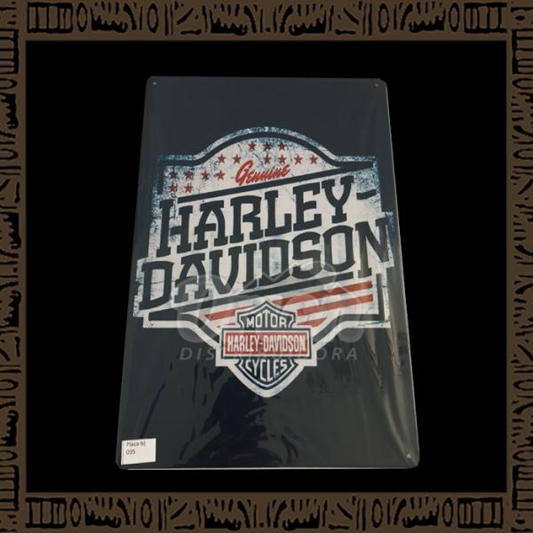 Quadro Decorativo de Parede 20x30 - Placa 035 Genuine Harley Davidson - TPLC-38