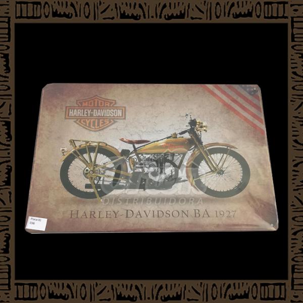 Quadro Decorativo de Parede 20x30 - Placa 036 Harley Davidson BA 1927 - TPLC-38