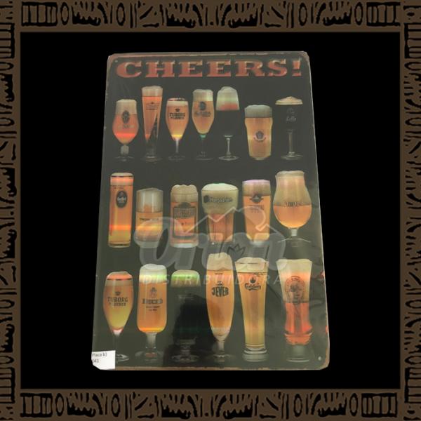Quadro Decorativo de Parede 20x30 - Placa 041 Cheers Corsendok - YPLC-200