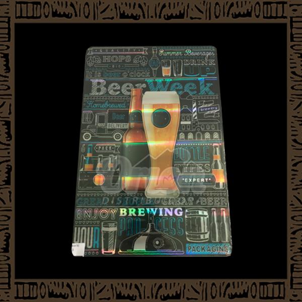 Quadro Decorativo de Parede 20x30 - Placa 043 Beer Week - YPLC-200