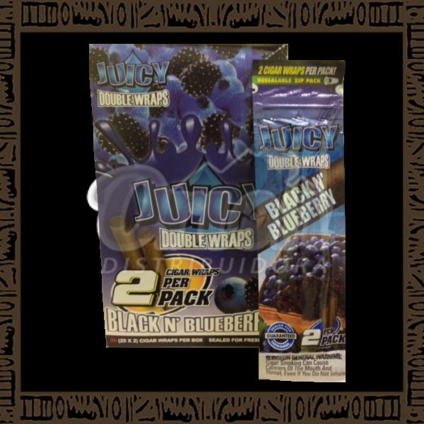 Caixa Blunt Juicy Sabores Blueberry c/25 unidades c/2 papeis cada