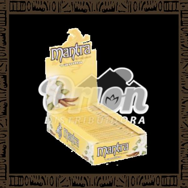 Caixa papel p/ cigarro Mantra Baunilha 1/4 c/ 25 unidades