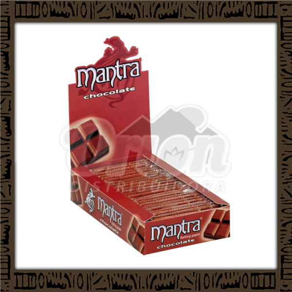 Caixa papel p/ cigarro Mantra Chocolate 1 1/4 c/ 25 unidades