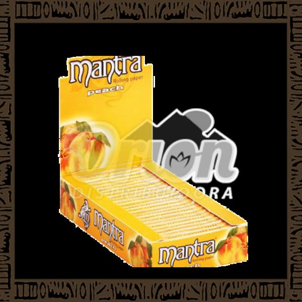 Caixa papel p/ cigarro Mantra Pêssego 1/4 c/ 25 unidades