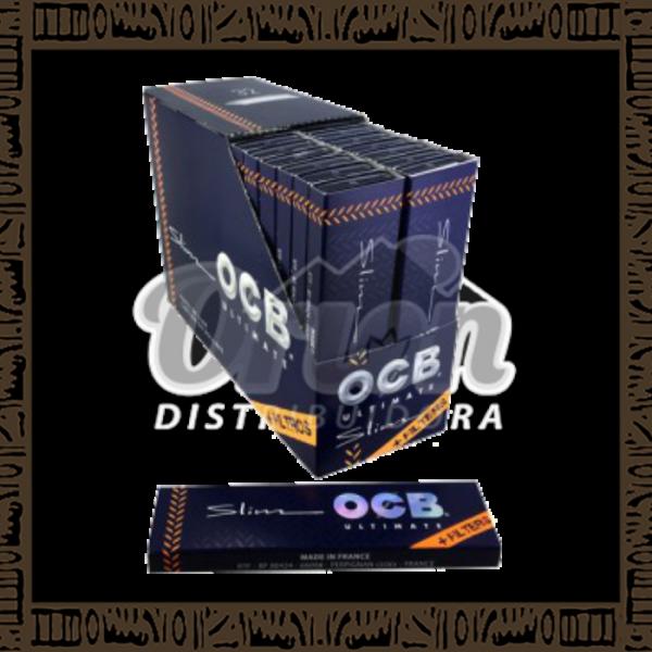 Caixa Seda OCB Slim Ultimate King Size + Tips c/32 unidades