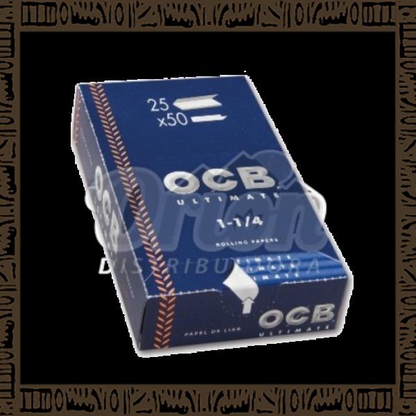 Caixa papel p/ cigarro OCB Slim Ultimate 1 1/4 c/25 unidades