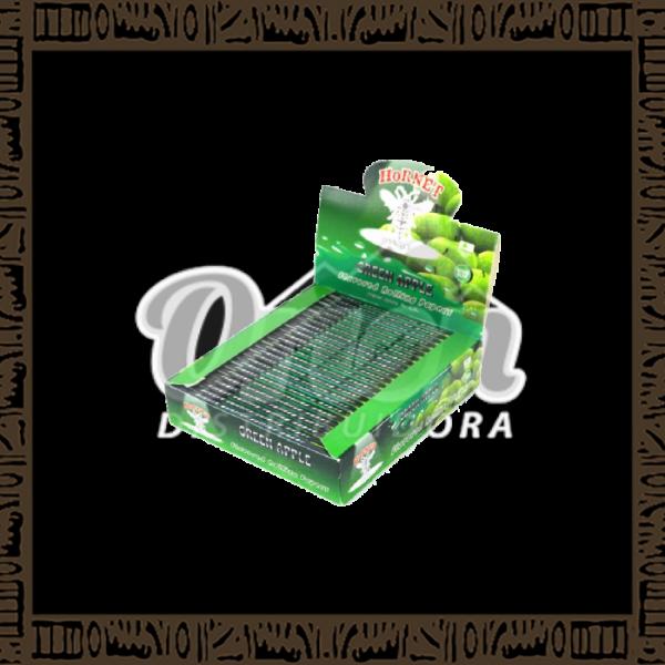 Papel p/cigarro Hornet Green Apple Maça Verde c/25