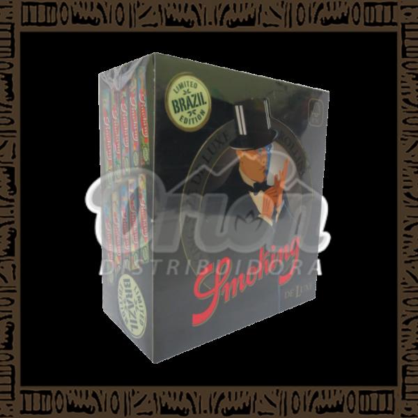 Caixa Seda Smoking Deluxe King Size c/50 cadernos de 33 folhas cada