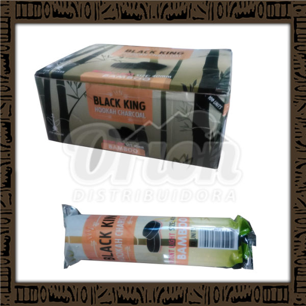 CARVÃO DE BAMBÚ - Black King Hookah Charcoal - 1kg