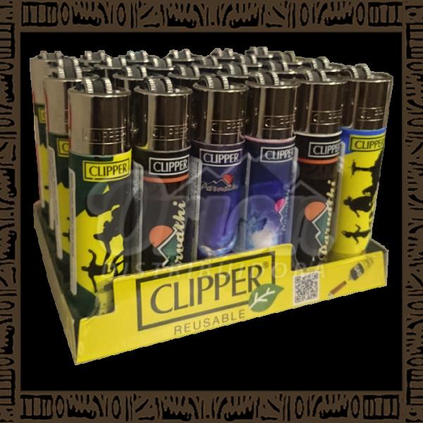 Caixa isqueiro Clipper CP11R Large Coleção Parvathi c/ 24 unidades