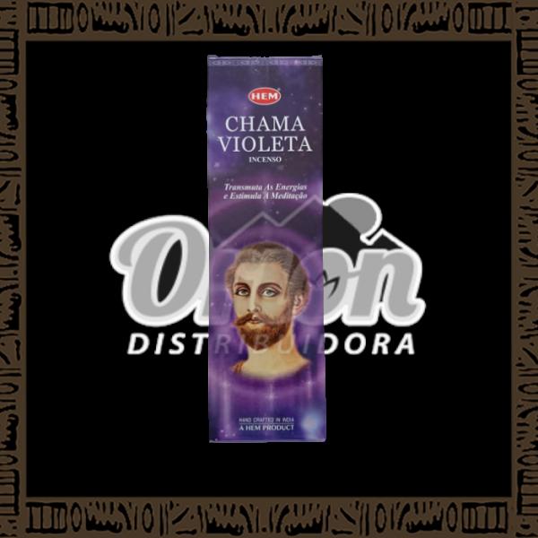 Caixa incenso Hem Chama Violeta c/ 25 unidades 8 varetas