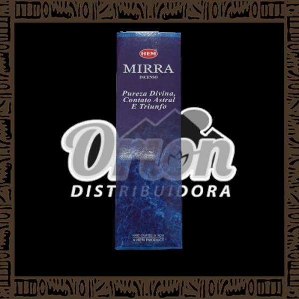 Caixa incenso Hem Mirra c/ 25 unidades 8 varetas