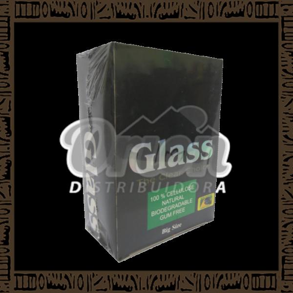 Caixa papel p/ cigarro Celulose Big Glass com 30 cadernos de 35 folhas