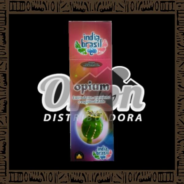Caixa incenso Índia Brasil Opium c/ 25 unidades 8 varetas