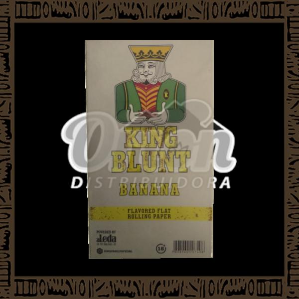 Caixa King Blunt Sabor Banana c/25 unidades c/5 papeis cada