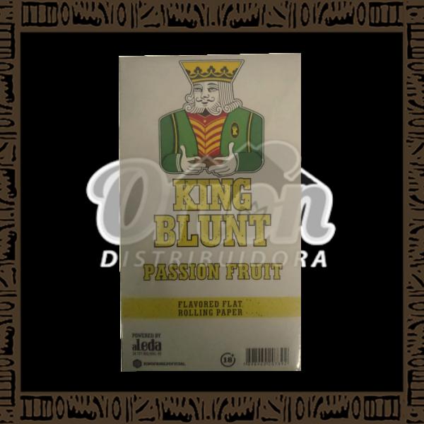 Caixa King Blunt Sabor Maracujá c/25 unidades c/5 papeis cada