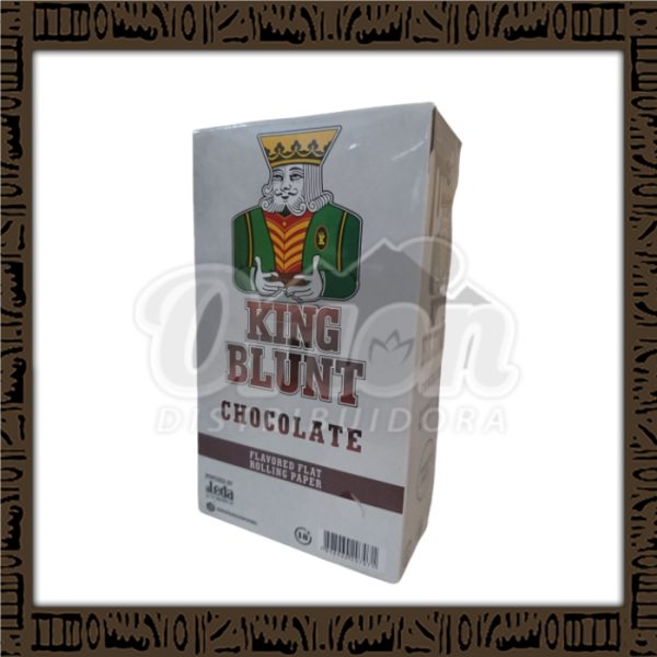 Caixa King Blunt Sabor chocolate c/25 unidades c/5 papeis cada
