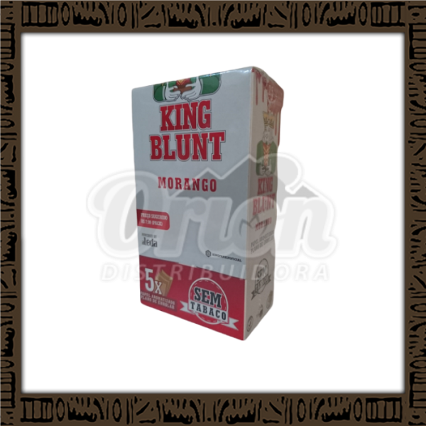Caixa King Blunt Sabor Morango c/25 unidades c/5 papeis cada