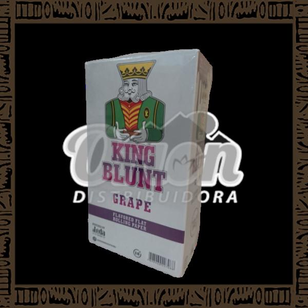 Caixa King Blunt Sabor Uva c/25 unidades c/5 papeis cada